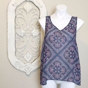 2/$15 | Maurices | Paisley Lace Tank Top S